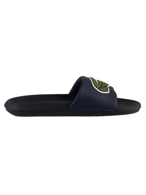 Lacoste Croco 120 3 US CMA Sliders - Navy/Green