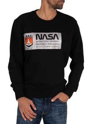 Alpha Industries Mars Reflective Sweatshirt - Black