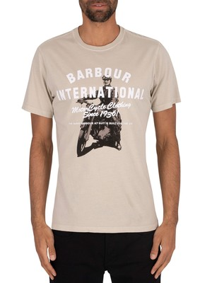 Barbour International A7 Edition T-Shirt - Washed Sand Dune