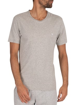 Calvin Klein 2 Pack Crew T-Shirt - Black/Grey Heather