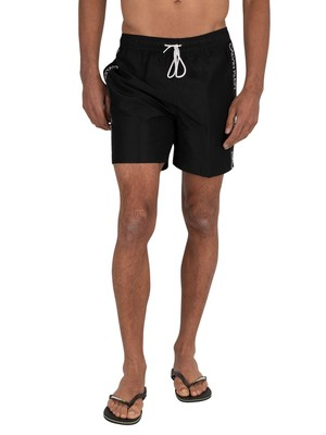 Calvin Klein Medium Drawstring Swim Shorts - Black