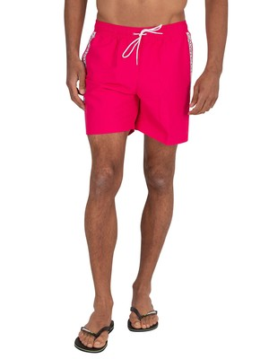 Calvin Klein Medium Drawstring Swim Shorts - Jewel Pink