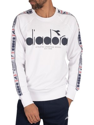 Diadora 5Palle Offside Sweatshirt - Optical White