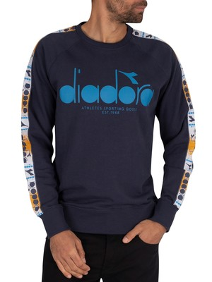 Diadora 5Palle Offside Sweatshirt - Blue Nights/Blue Mediterranean