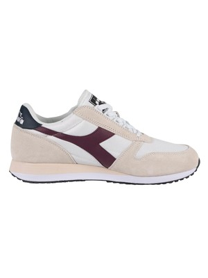 Diadora Caiman Suede Trainers - White/Advent Violet