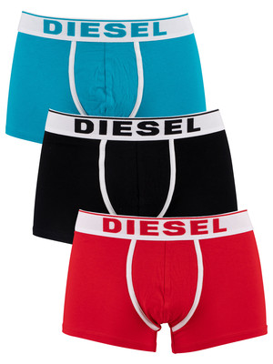 Diesel 3 Pack Damien Trunks - Red/Black/Blue