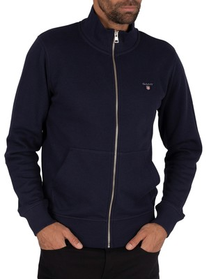 Gant Original Zip Sweatshirt - Evening Blue