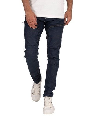 G-Star Air Defence Zip Skinny Jeans - Worn In Mazarine Coated