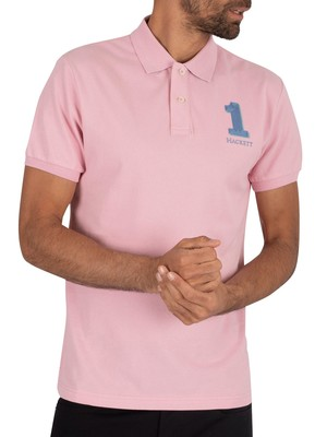 Hackett London Classic Polo Shirt - Baby Pink