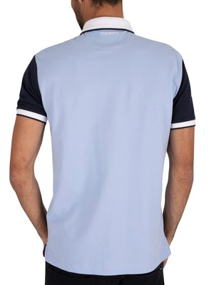 Hackett London Logo Polo Shirt - Navy/Sky
