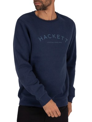 Hackett London Logo Sweatshirt - Navy