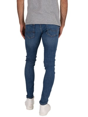Jack & Jones Tom Original 814 Spray On Jeans - Blue Denim