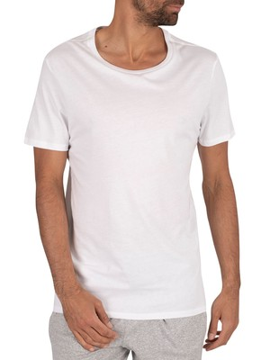 Lacoste 3 Pack Crew T-Shirt - White