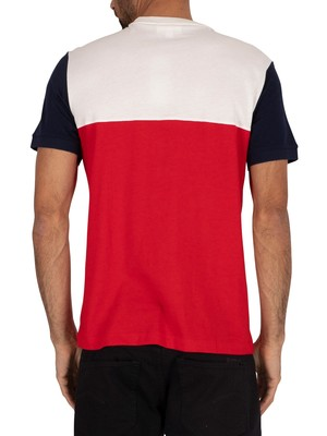 Lacoste Logo T-Shirt - Red/Flour/Navy Blue