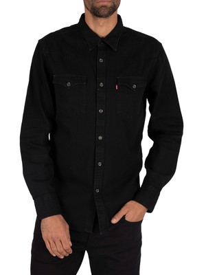 Levi's Barstow Western Shirt - Marble Blue Black