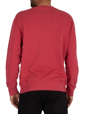 Levi's Logo Colourblock Sweatshirt - Red