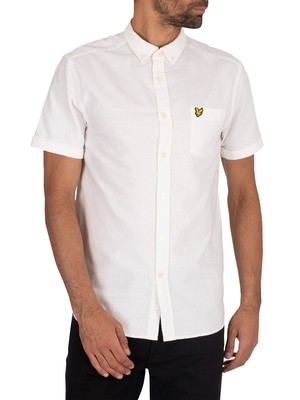 Lyle & Scott Oxford Short Sleeved Shirt - White