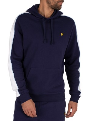 Lyle & Scott Side Panel Pullover Hoodie - Navy