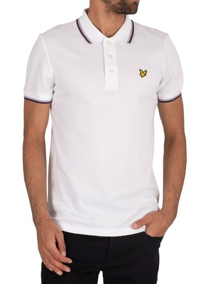 Lyle & Scott Tipped Polo Shirt - White/Navy