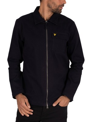 Lyle & Scott Twill Overshirt - Dark Navy