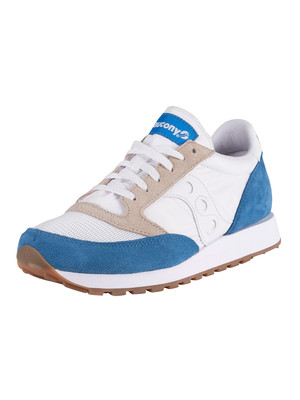 Saucony Jazz Original Vintage Trainers - White/Blue