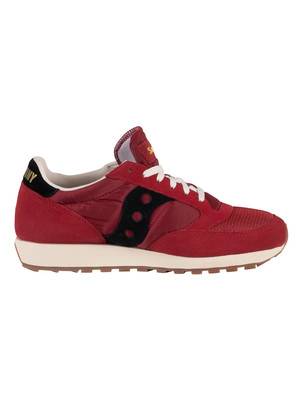 Saucony Jazz Original Vintage Trainers - Burgundy