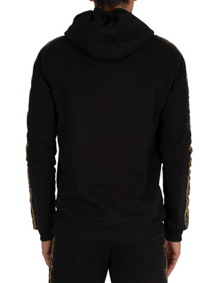 Sik Silk Nylon Panel Pullover Hoodie - Black/Gold