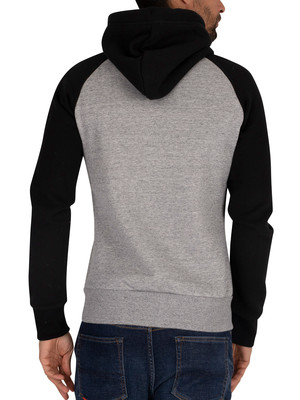 Superdry Classic Raglan Zip Hoodie - Collective Dark Grey Grit