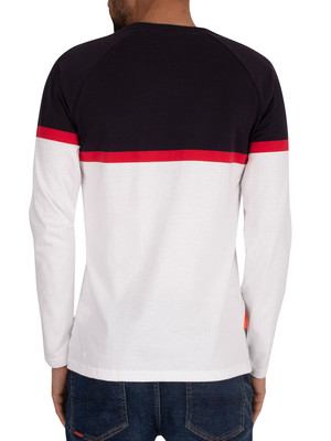 Superdry Collective Colour Block Longsleeved T-Shirt - Optic