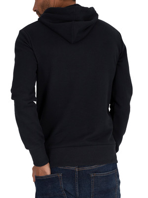 Superdry Core Logo Stripe Pullover Hoodie - Eclipse Navy