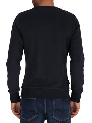 Superdry Core Logo Stripe Sweatshirt - Eclipse Navy