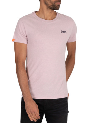 Superdry Vintage EMB T-Shirt - Chalk Pink Feeder