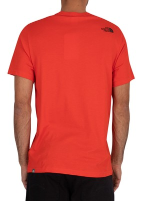 The North Face Fine T-Shirt - Fiery Red