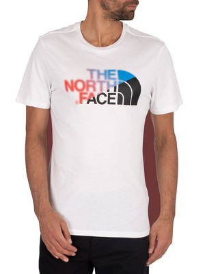 The North Face Graphic T-Shirt - White/Clear Lake Blue