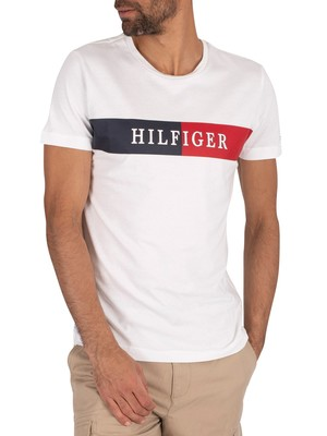 Tommy Hilfiger Block Stripe T-Shirt - White
