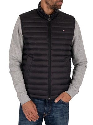 Tommy Hilfiger Core Packable Down Gilet - Jet Black