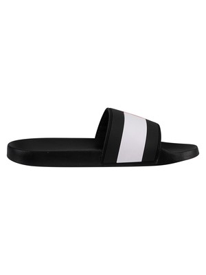 Tommy Hilfiger Essential Flag Pool Sliders - Dark Ash