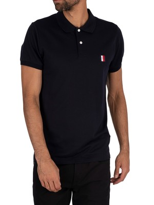 Tommy Hilfiger Flex Mouline Badge Slim Polo Shirt - Desert Sky