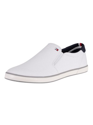 Tommy Hilfiger Iconic Slip On Trainers - White