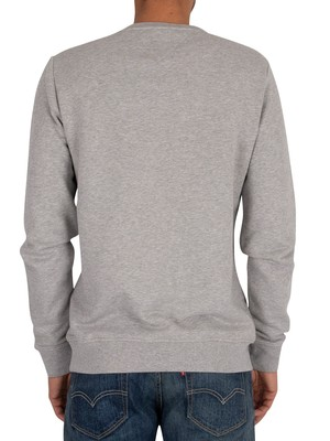 Tommy Hilfiger Intarsia Sweatshirt - Medium Grey Heather