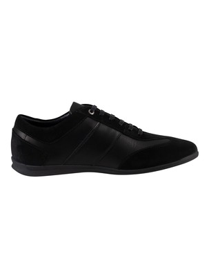 Tommy Hilfiger Otis Leather Suede Trainers - Black
