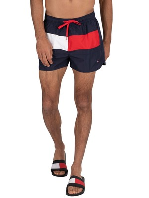Tommy Hilfiger Runner Swim Shorts - Pitch Blue