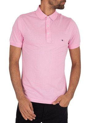 Tommy Hilfiger Slim Logo Polo Shirt - Classic Pink