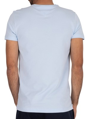 Tommy Hilfiger Stretch Slim Fit T-Shirt - Chambray Blue