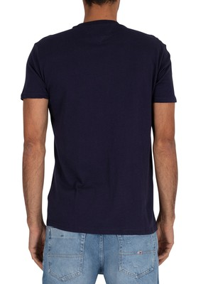 Tommy Jeans Chest Stripe Logo T-Shirt - Twilight Navy