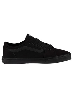 Vans Filmore Decon Canvas Trainers - Black/Black