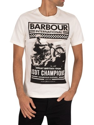 Barbour International Archive T-Shirt - Whisper White