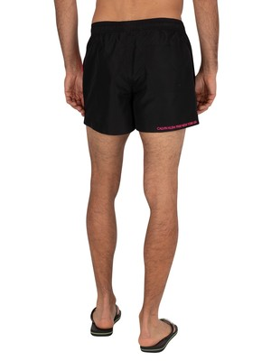 Calvin Klein Short Drawstring Swim Shorts - Black