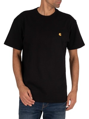 Carhartt WIP Chase T-Shirt - Black/Gold