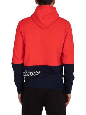 Champion 1/4 Zip Hoodie - Red/Navy